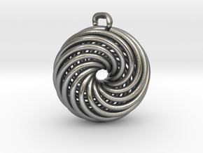 Vortex Pendant Precious Metal Cast Version in Raw Silver