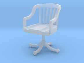 Miniature 1:48 Office Rolling Chair in Frosted Ultra Detail