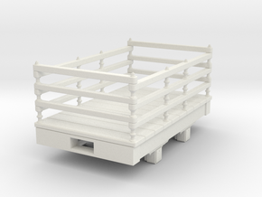 Gn15 small 5ft slate wagon in White Strong & Flexible