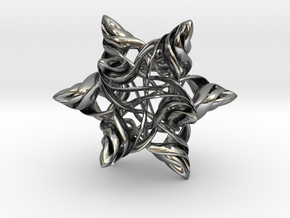 Rhombic Triacontahedron V, medium in Premium Silver