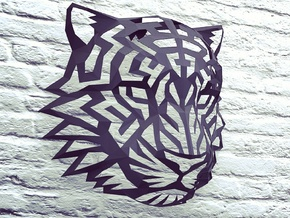 Modern Faux Taxidermy - Tiger Head (L) in Black Strong & Flexible
