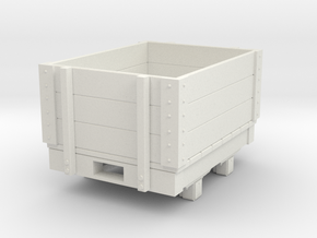 Gn15 small 4ft open wagon in White Strong & Flexible