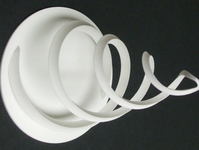Intertwined 15cm 12 6 2014 in White Strong & Flexible