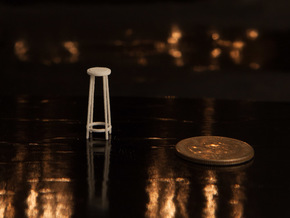 "1:48 42"" Simple Stool in White Strong & Flexible"