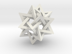 Five Tetrahedra Small in White Strong & Flexible