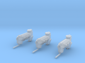 """Kushan """"Firelance"""" Ion Cannon Frigates (3) in Frosted Ultra Detail"""