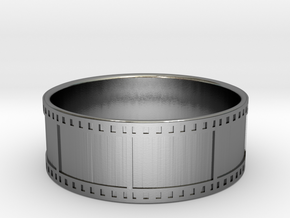 35mm Film Strip Ring - Size US 12 in Polished Silver