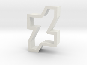 new dA logo cookie cutter in White Strong & Flexible