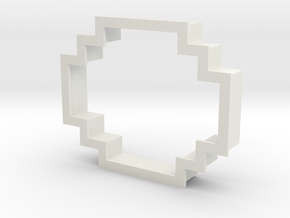 pixely cookie cutter in White Strong & Flexible