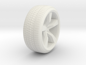 ~ 1/87 Camaro Wheel in White Strong & Flexible