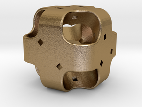 Dice110 in Polished Gold Steel