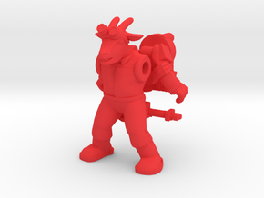 Bray Ghoatbuster Figure (plastic) in Red Strong & Flexible Polished