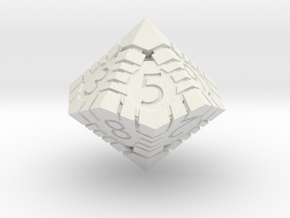 D10 - Andrew Bell 3d - Geometric Design 1 in White Strong & Flexible