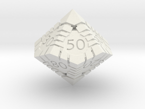 D100 - Andrew Bell 3d - Geometric Design 1 in White Strong & Flexible