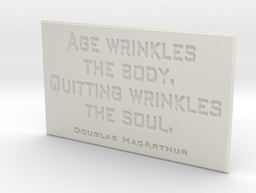 Age wrinkles the body in White Strong & Flexible