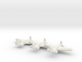 P-51A/Mustang II (Triplet) 1/900 in White Strong & Flexible