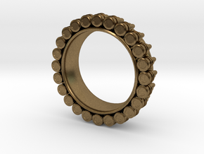 Bullet ring(size = USA 7-7.5) in Raw Bronze