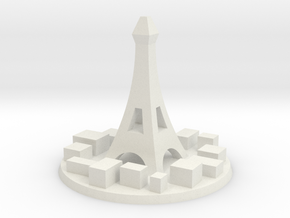 Paris City Marker in White Strong & Flexible