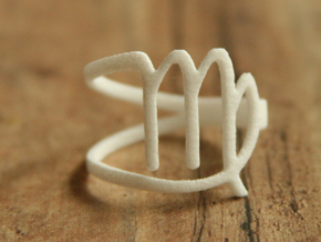 Virgo Zodiac Ring in White Strong & Flexible Polished