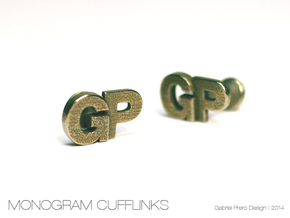 Monogram Cufflinks GP in Stainless Steel