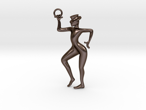 let's dance male pendant in Polished Bronze Steel