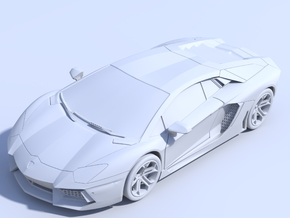 1/87 - Solid: Lamborghini Aventador (HO-Scale) in Frosted Ultra Detail