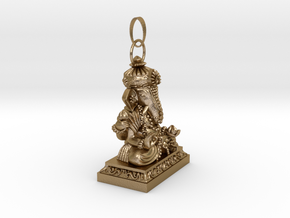 Thai Buddha (A) 0.3 in Polished Gold Steel