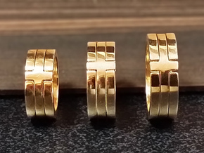 (USA) 9 Void Cross - Multiple Sizes in Polished Brass