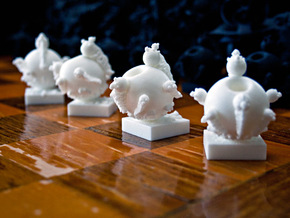 Surreal Chess Set - My Masterpieces - The Pawn in White Strong & Flexible