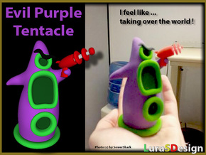 Evil Purple Tentacle LARGE in Full Color Sandstone