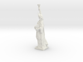 Statue Of Liberty Table Candle Holder �21 Cm in White Strong & Flexible