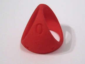 D3 Fudge Shell Dice - Gen 2 in Red Strong & Flexible Polished
