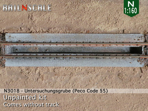 Untersuchungsgrube (N 1:160 - Peco Code 55) in White Strong & Flexible