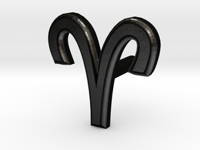 Aries Earring in Matte Black Steel