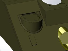 Set of 2 1:35 Scale Fisher Type Radio Bracket in Frosted Ultra Detail