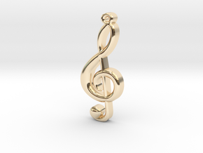 Treble Cleff in 14K Gold