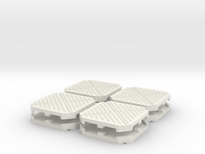 15mm/28mm Sci-Fi Cargo Pallets (8pcs) in White Strong & Flexible