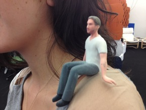 Hey Girl, I'm Also 3D Printed Ryan Gosling in Full Color Sandstone