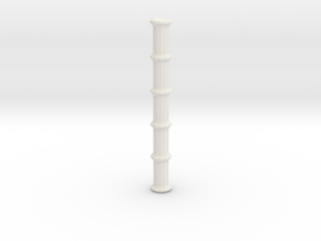 Bamboo Staff V1.1 in White Strong & Flexible