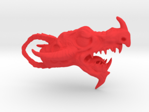 Dragon head pendant in Red Strong & Flexible Polished