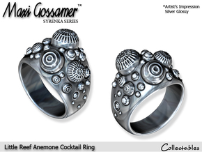 Little Reef Anemone Cocktail Ring in Polished Silver