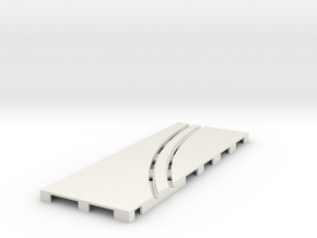 P-65stp-straight-lh-curve-outer-145r-100-pl-1a in White Strong & Flexible