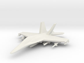 1/285 (6mm) F-18 Super -w/Conform Tanks w/ord-1 in White Strong & Flexible