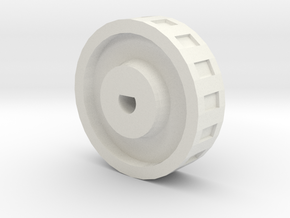 Laundry Machine Knob in White Strong & Flexible