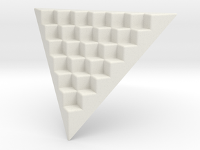 Pyramid Base for 12mm Dice (6 per edge) in White Strong & Flexible