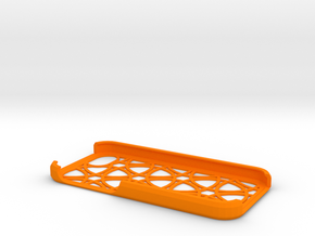 iPhone 5/5s Geometry Pattern Case in Orange Strong & Flexible Polished
