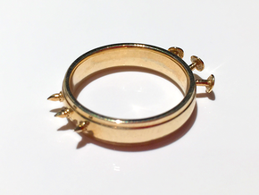 Nailed Wedding Ring - Size 4 in Polished Brass