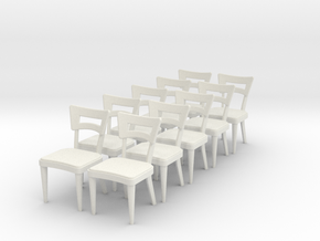 1:24 Dog Bone Chair (Set of 10) in White Strong & Flexible