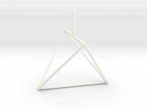 Wire Model for Soap: Tetrahedron in White Strong & Flexible Polished