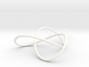 Trefoil Knot for Soap Experiments in White Strong & Flexible Polished